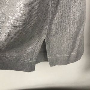 Banana Republic Tops - Banana Republic Linen Shirt metallic silver Sz XL